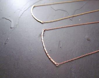 rose gold necklace bar, rose gold bar necklace, dainty rose gold necklace, rose gold necklace, dainty bar necklace, hammered bar necklace