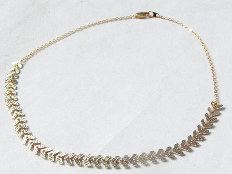 boho choker necklace chocker collar necklace Gold choker necklace thick choker necklace fish bone necklace chevron choker necklace