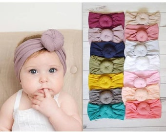 Baby Knot headband turban. Soft stretchy hair accessories for babies and  kids. ea8a7a3032f