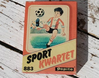 Sport Quartet * 883/Papita card game/Gezelschapsspel/Retro/Vintage/1979/Water sports/Martial arts/Winter sports/athletics/ball/Rens Port