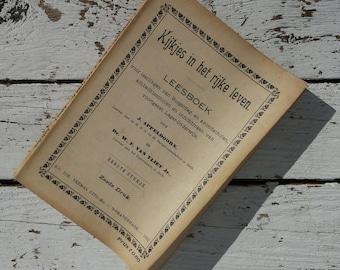 Vistas in the rich life * 1922/read book Burgerdag-evening schools/j. abbasian/antique vintage retro/HBS/Illustrations/Yad Ed