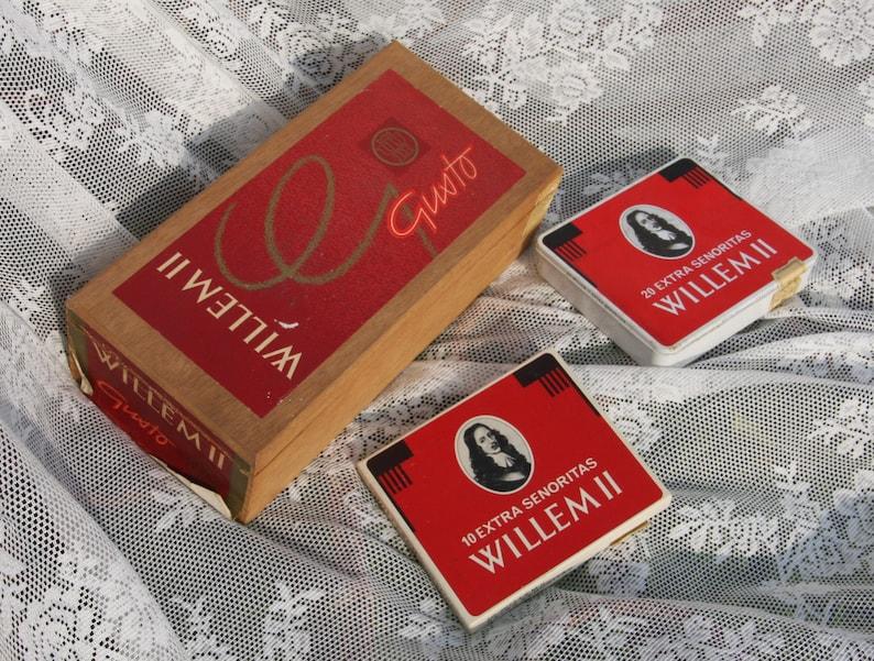 Willem ii cigar box gusto cigar cigar can cigars vintage retro etsy