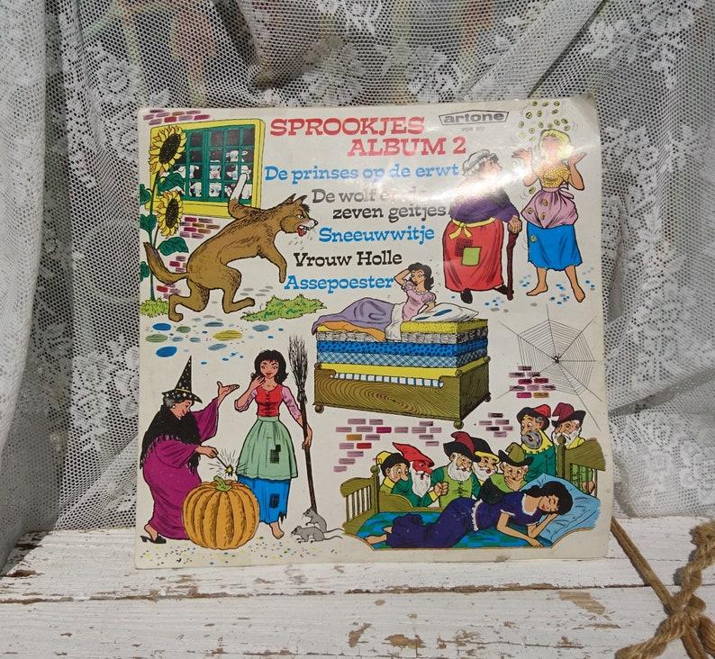 Fairytale Album 2 LP/Princess Pea/Wolf 7 kids/Snow White/female  Hollow/Cinderella/1988/story Grimm Fairytale/Vintage