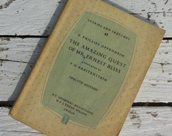 Retro * English book The Amazing Quest of Mr. Bliss. /Vintage/12th print 1961/Phillips Oppenheim/Breitenstein/Tjeenk Walker