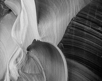 Antelope Canyon Black and White fine art photography print