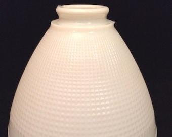 Torchiere lamp shade etsy retro corning 820120 waffle white glass torchiere lamp shade fitting 2 14 vintage aloadofball Image collections