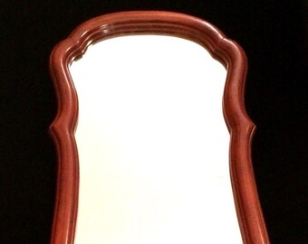 "41"" Large Skinny Full Length Wall Mirror Cherry Wood Framed Vintage"