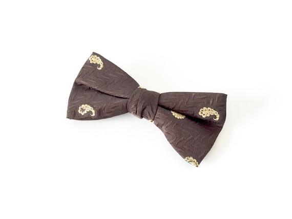 Vintage Paisley Bow Tie / 1950's Paisley Bow Tie /