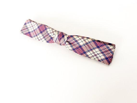 1950s Men's Bow Tie / Skinny Bow Tie / Plaid Bow T