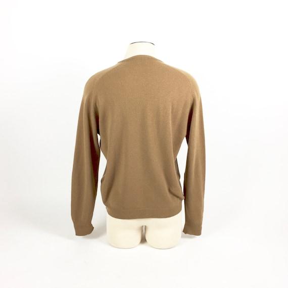 1950 s V cou pull / pull en / laine d'agneau / en pull XL pour homme / Neiman Marcus / Brown pull / fabriqué en Angleterre 02254a