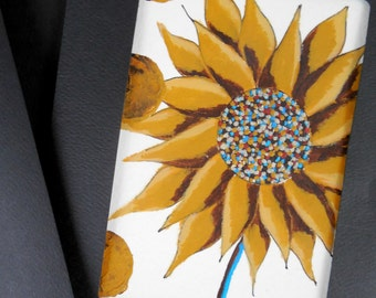 Sunflower Original Painting Greeting Card 5x7 with Envelope Happy Yellow Summer Flower by Jeanne Fry