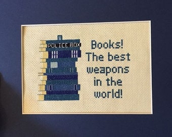 TARDIS Book Quote Cross Stitch Pattern