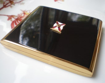 Beautiful Vintage Stratton Powder Compact Mirror Royal Mail Steam Packet Company Souvenir Compact Circa 1950s