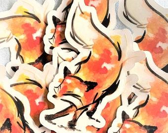 Watercolor Fox Sticker, Fox Art, Cottagecore, Forest Sticker, Aesthetic Sticker, Watercolor Sticker, Watercolor Art, Fox Sticker Laptop
