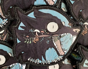 Bless This Mess Wolf Patch, Wolf Patch, Cottagecore Patch, Edgy Patch, Iron On Patch, Cute Patch, Boomer Humor, Wolf Art, Aesthetic Patch
