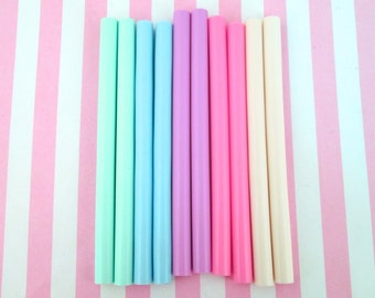 10 pc Pastel Hot Glue Sticks for kawaii and decoden