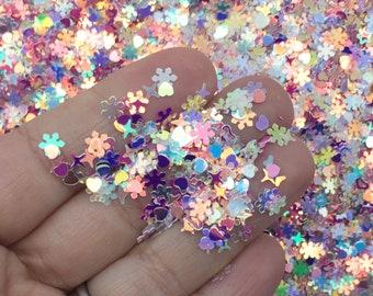Clear Ab Shift Iridescent Shift Round Bubble Glitter Decoden Shaker Mold and Resin Glitter Nail Art Glitter U143