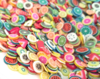 Polymer Clay Fruit Slices, Nail Art Slices, Faux Fruit, Miniature Fruit, E202