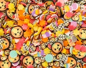 Pumpkins of Hallow Town, Halloween Polymer Clay Sprinkles, Spooky Faux Sprinkles, Polymer Clay Fake Sprinkles, Decoden Funfetti Jimmies, E53