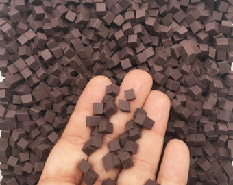 Chocolate Polymer Clay Chunks, NON EDIBLE Chocolate Chips, Faux Chocolate Chips Cubes for Decoden Cookies Slime Etc.. M202