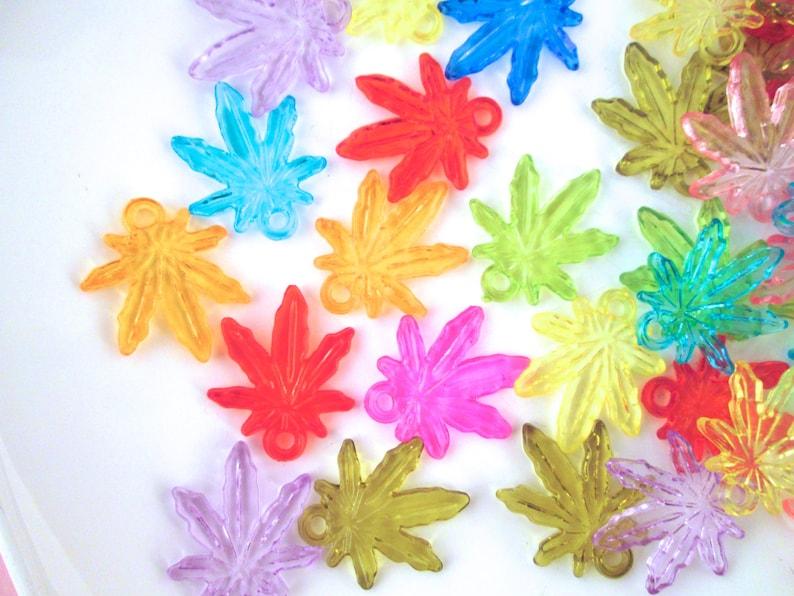 50 Assorted Pot Leaf Charms, Marijuana Leaf, Weed Charms, Hemp, Cannabis Pendants J177 photo
