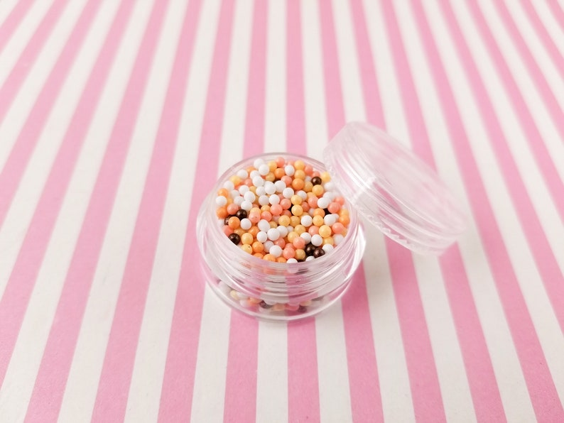 Faux Resin Caviar Beads Pick Your Amount Decoden Rainbow Funfetti Jimmies 2mm V198 Faux Pumpkin Spice Autumnal Nonpareil Sprinkles