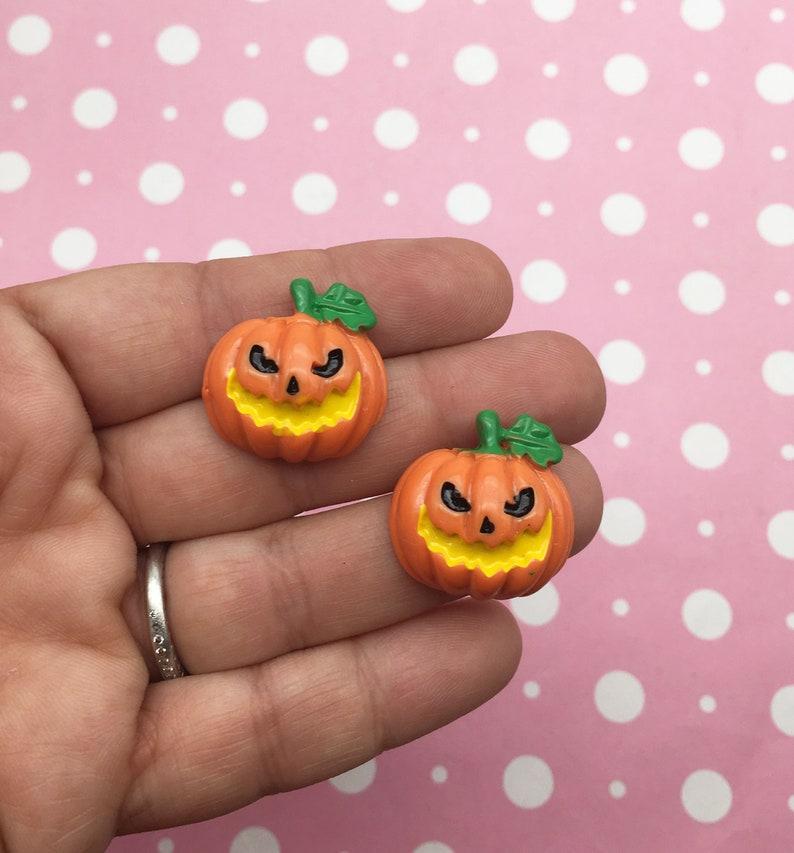 Cute Halloween Cabochons Pumpkin Jack O Lantern Cabochons Dh45