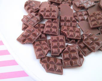Chocolate Bar Cabochons, you pick your amount #09b