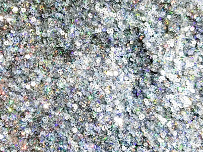 Deco M249 Holo Star Glitter Nail Art Glitter Silver Holographic Round Sequins Glitter Circle Sequins Glitter Pick Your Amount