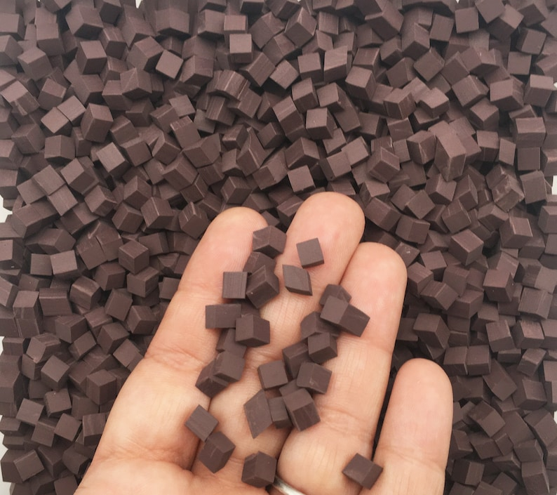 Chocolate Polymer Clay Chunks NON EDIBLE Chocolate Chips image 0