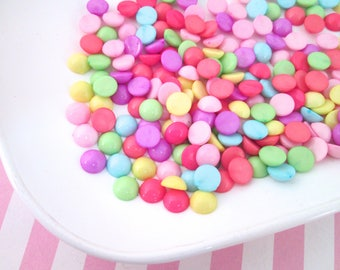 100 8mm Assorted Candy Dot Cabochons #1029