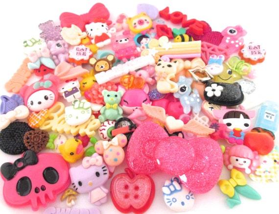 25 OR 50 x Cute Mixed Christmas Cabochons Kawaii Crafts UK Seller 10