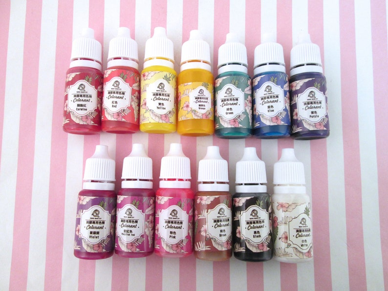 Resin Pigments, Resin Colorants, Color Dyes for Resin, 10g, UV Resin, Epoxy  Resin