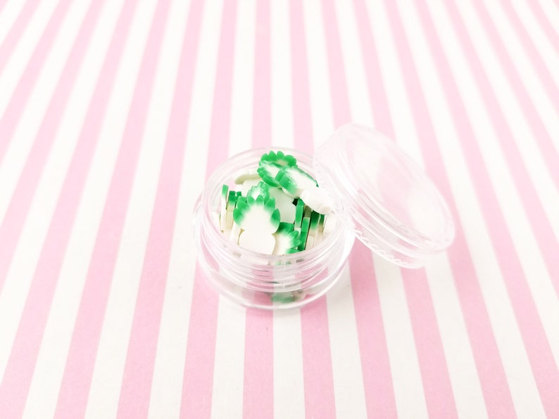 Veggie Nail Art Slices Miniature Food R146 Large Napa Cabbage Polymer Clay slices Pick Your Amount Faux Food