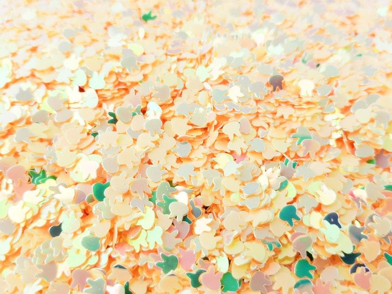Yellow Iridescent Shift Bunny Shape Glitter Rabbit Glitter T54 kawaii shaker glitter Pick Your Amount