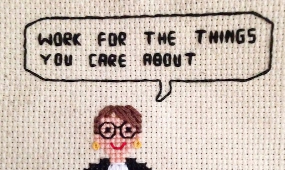 ruth bader ginsburg notorious rbg quote cross stitch pattern etsy