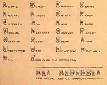Alt Alphabet for Social Justice Warriors Embroidery Pattern For Stitchers
