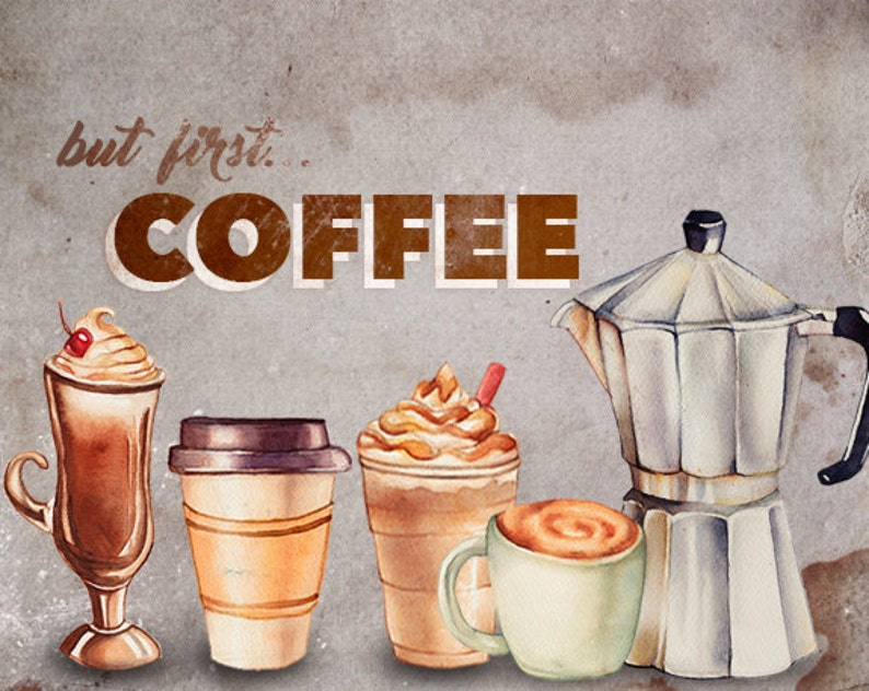 desserts cookies clipart Cafe clipart Food illustration Food Watercolor clipart Coffee clipart Pastries clipart Watercolor graphics