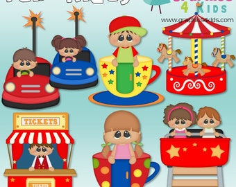 Fair Rides Digital Clipart - Clip art for scrapbooking, party invitations - Instant Download Clipart Commercial Use
