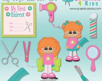 My First Haircut Girl Digital Clipart