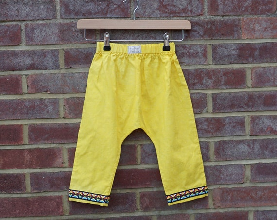 Funky Yellow Trousers Age 1-3yrs