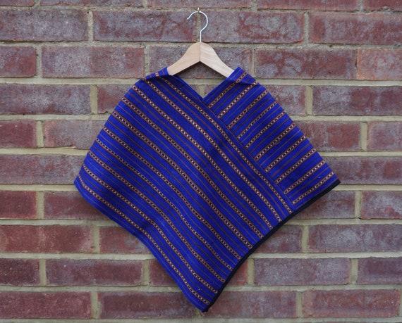 Blue Fairtrade Poncho