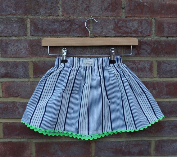 Neon Nautical Skirt Age 1-3yrs