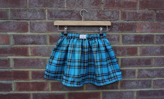Turquoise Tartan Skirt