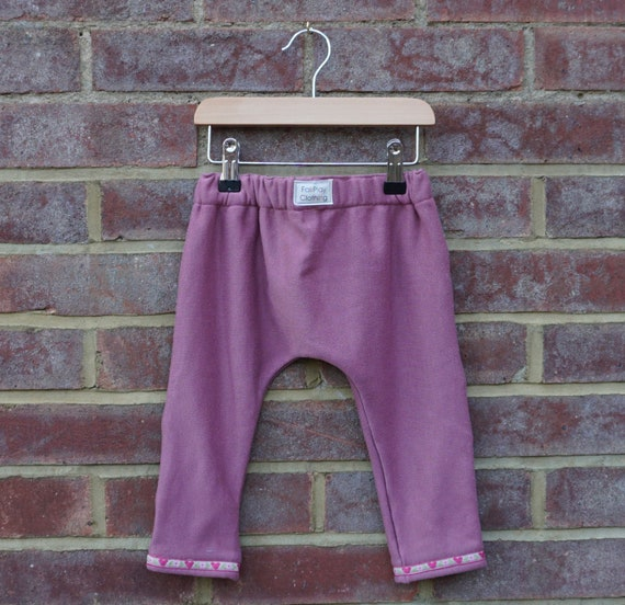 Blush Pink Harem Style Trousers Age 0-12m