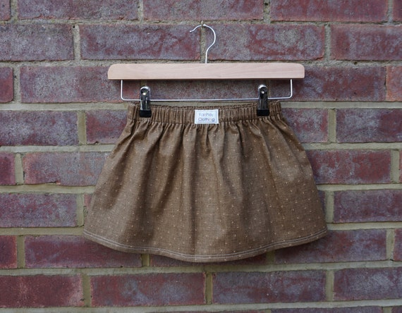 Brown Autumn Skirt Age 3-5yrs