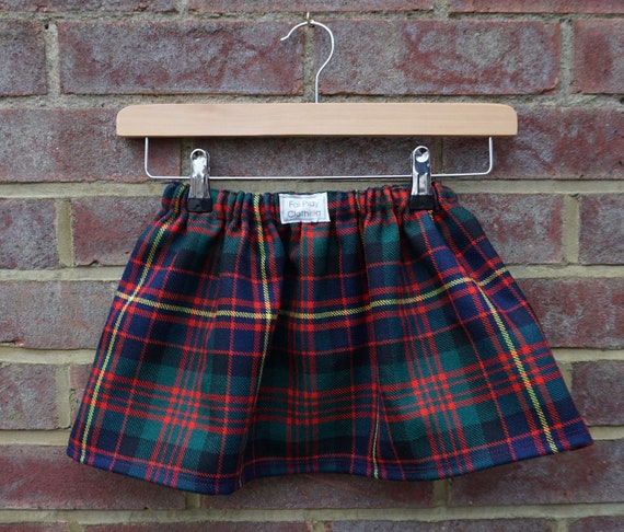 School Photo  Zero Waste Tartan Skirt Age 3-5yrs