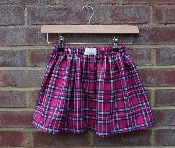 Pink Tartan Skirt Age 5-7yrs