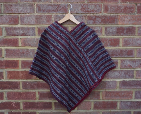 Maya Fair Trade Burgundy Poncho Age 7-12yrs