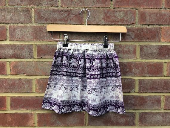 Purple Elephant Skirt Age 7-8yrs